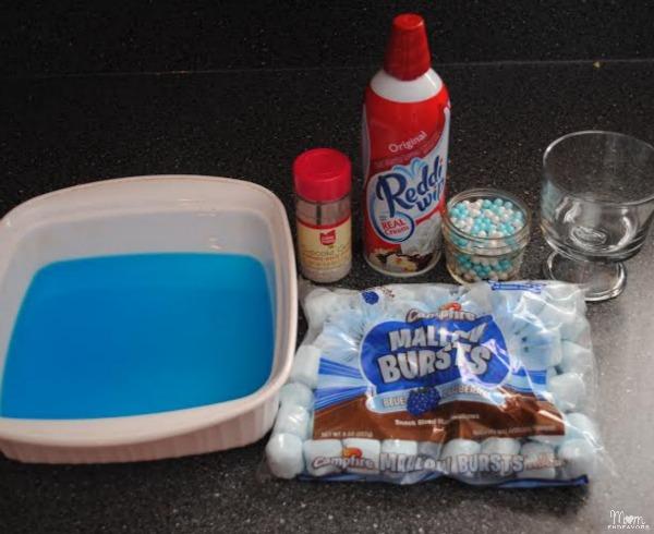 Blue Jell-O Dessert Trifle