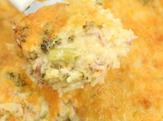 Cheesy Ham Amp Broccoli Hash Brown Casserole
