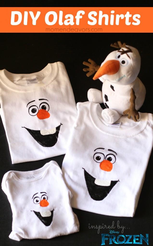 Disney Frozen Craft DIY Olaf Shirts