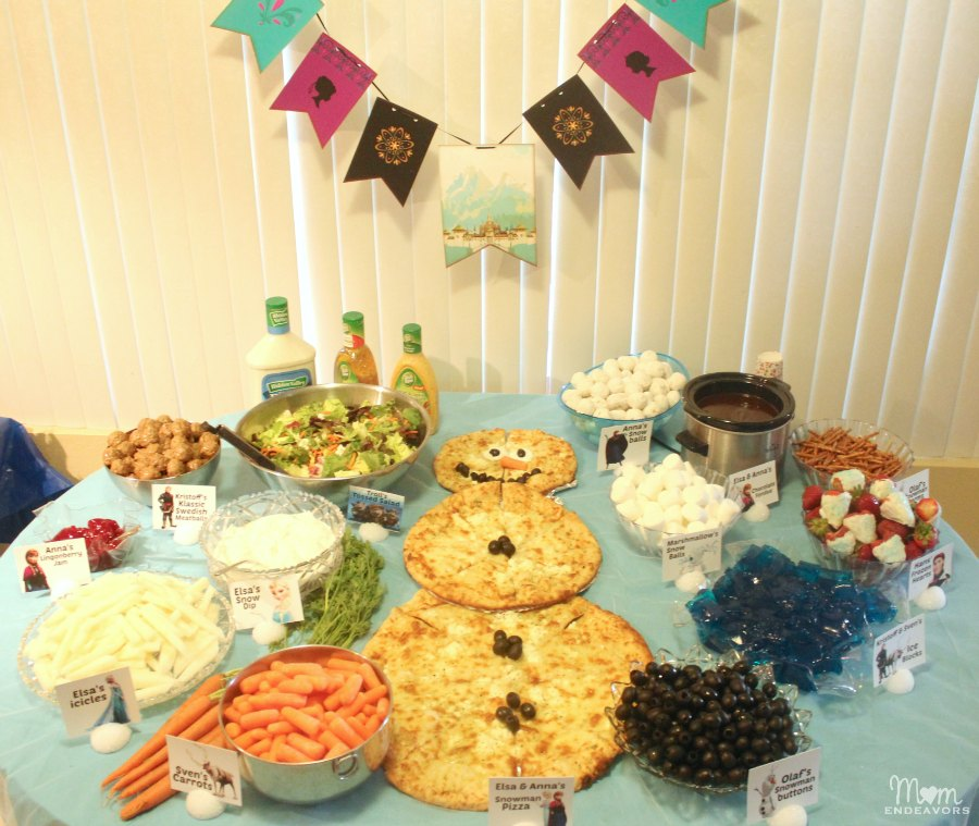 Disney Frozen Party Food table