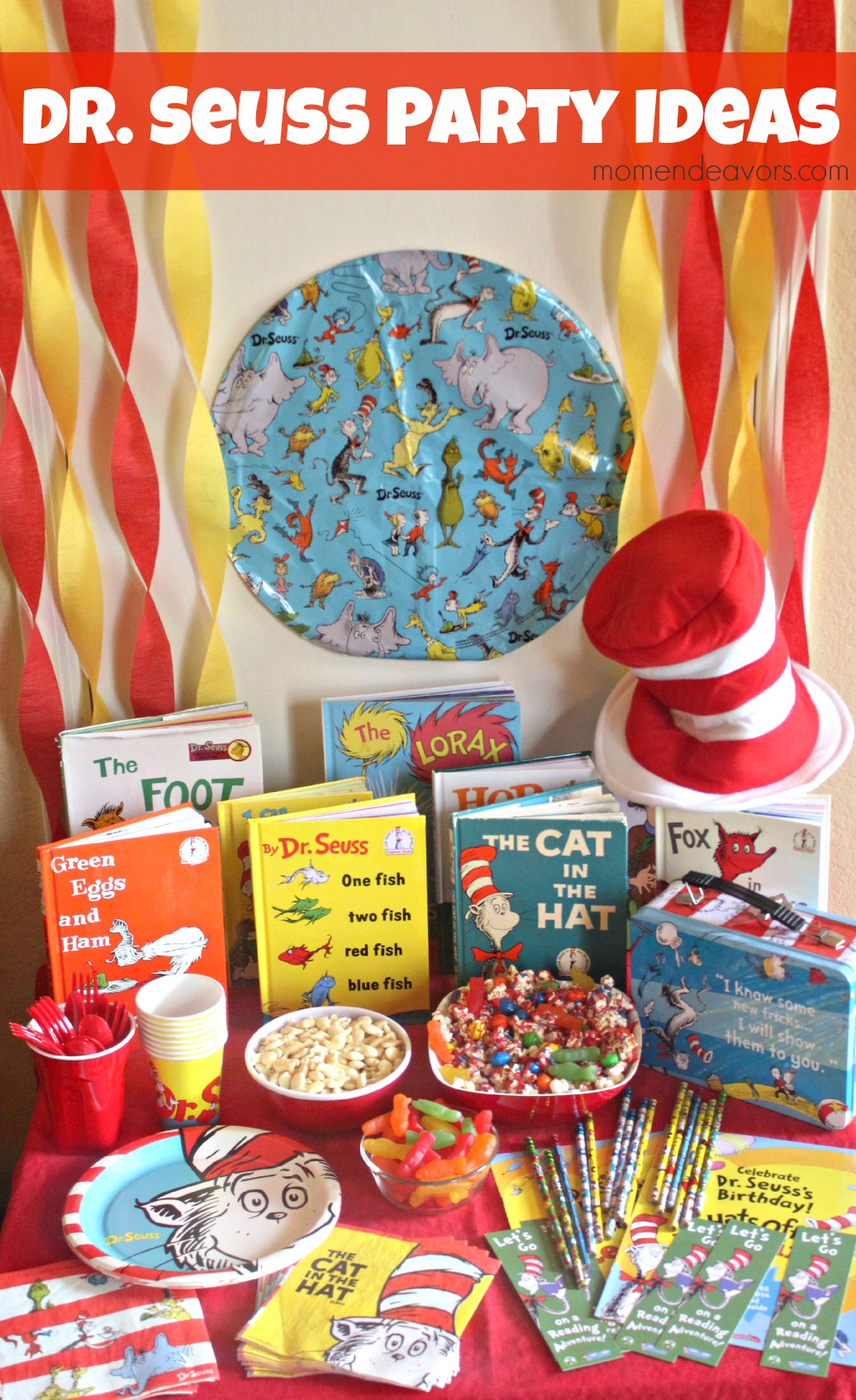 Dr Seuss Cat In The Hat Birthday Supplies