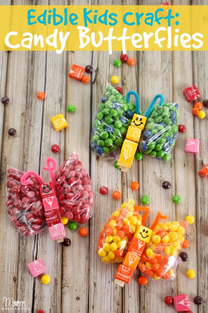 Edible kids craft candy butterflies for Butterflies for crafts and decoration
