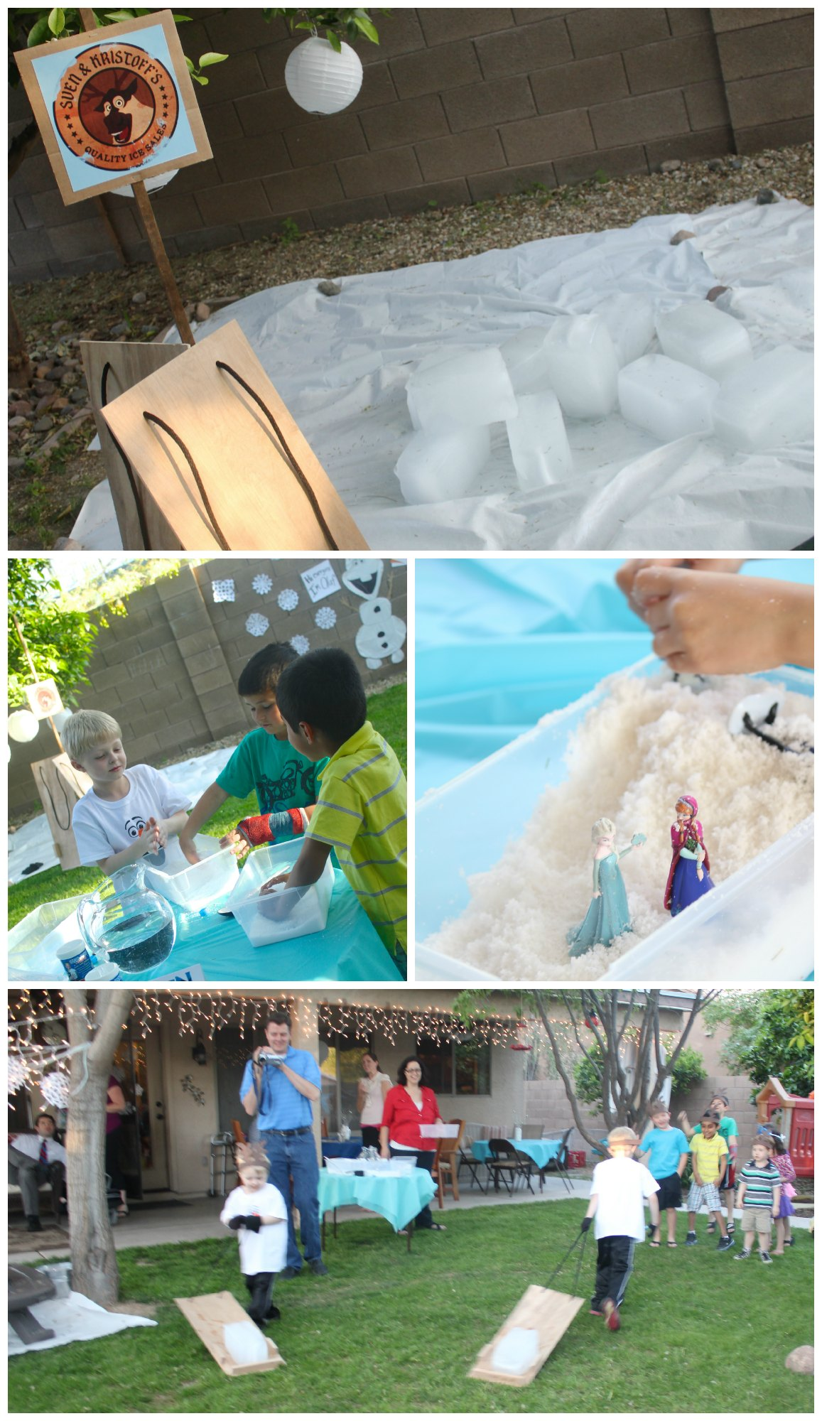 Frozen party activities