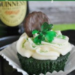 Guinness & Irish Cream Green Velvet Cupcakes