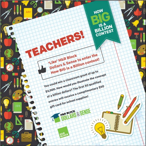 H&R Block Billion Dollars Teacher Contest