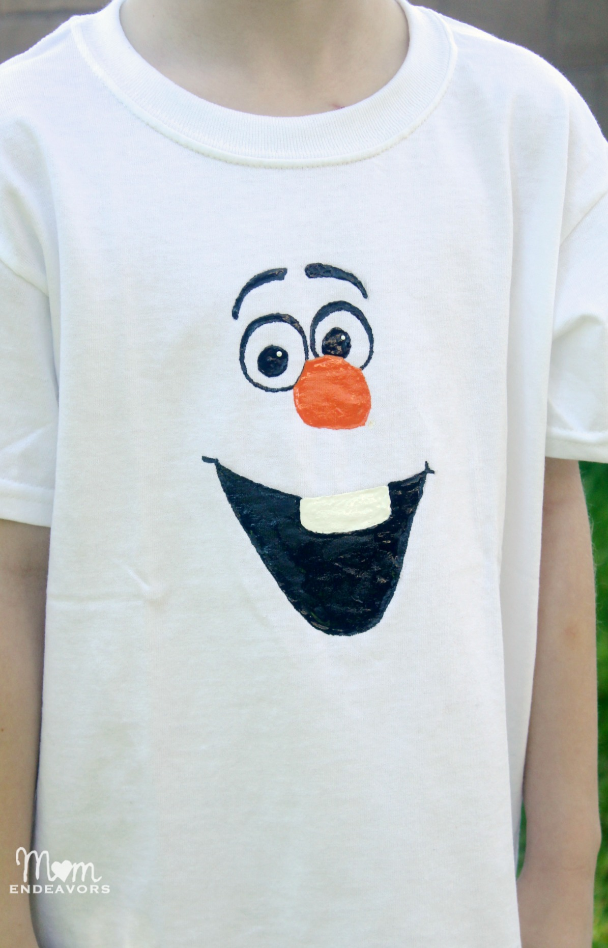 Disney frozen craft diy olaf shirt handmade disney frozen olaf shirt pronofoot35fo Gallery