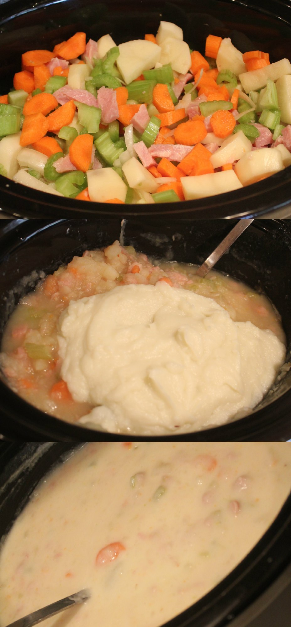 Healthier Slow Cooker Ham & Potato Soup