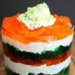Irish Flag Jell-O Dessert Trifle