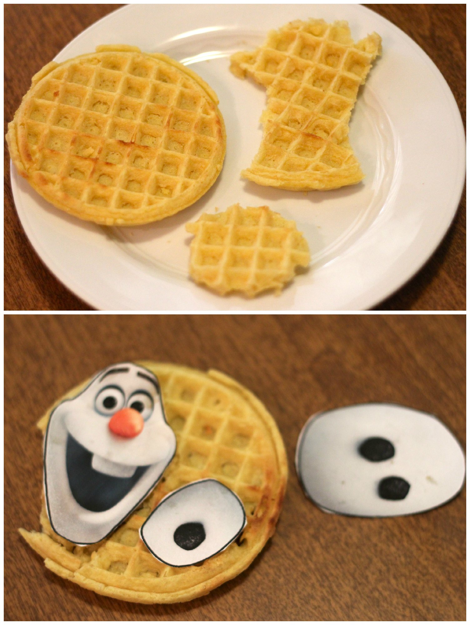 Making Olaf & Sven Waffles