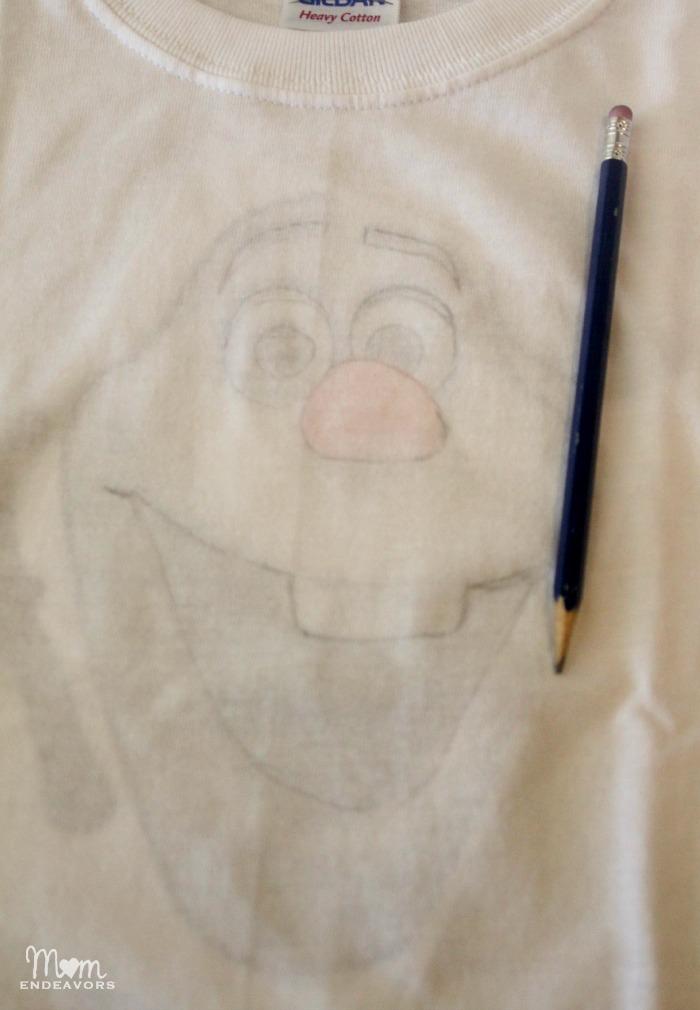 Making an Disney Frozen Olaf shirt