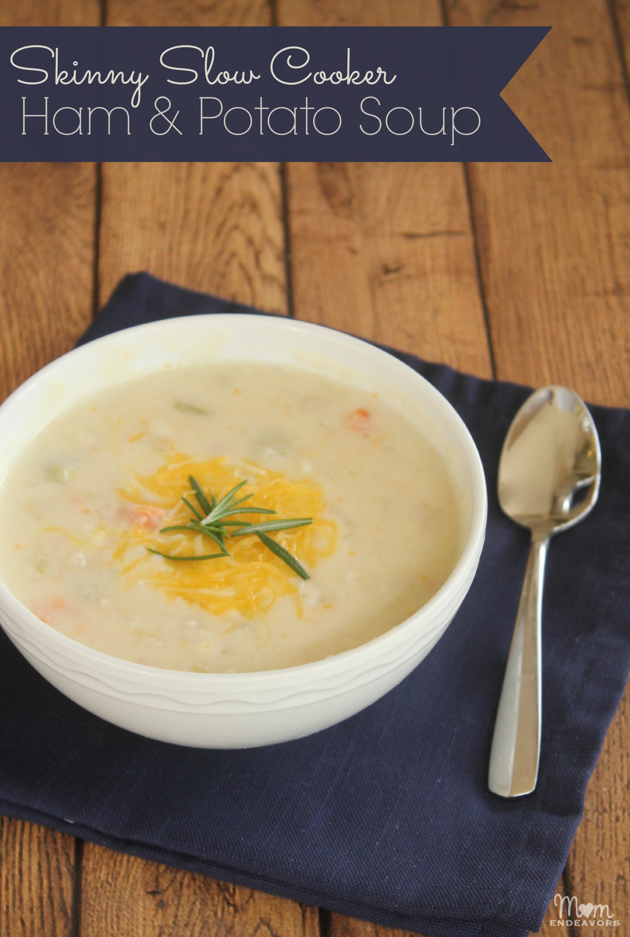 Skinny Slow Cooker Ham & Potato Soup