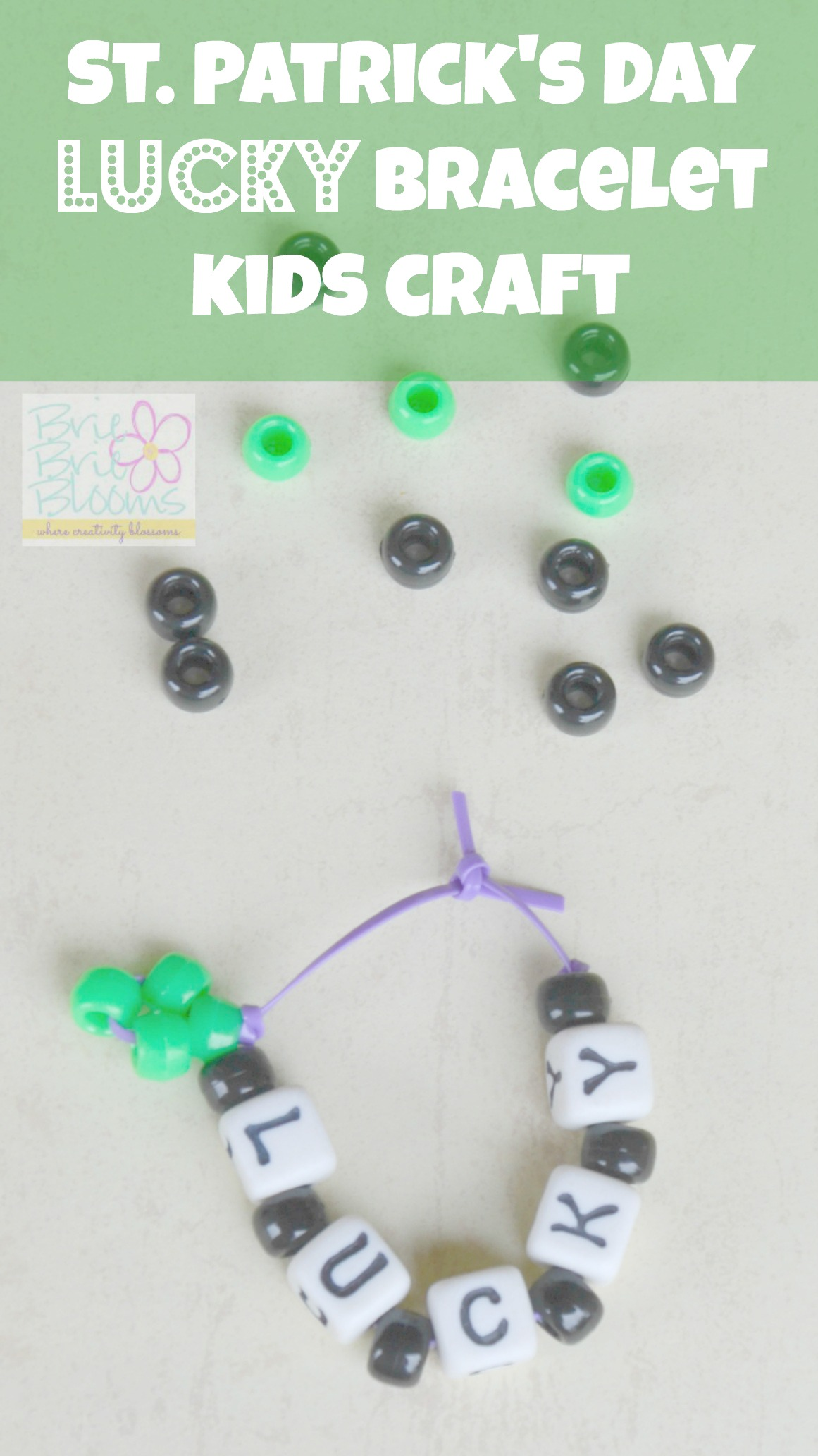 St. Patricks Day Bracelet Kids Craft
