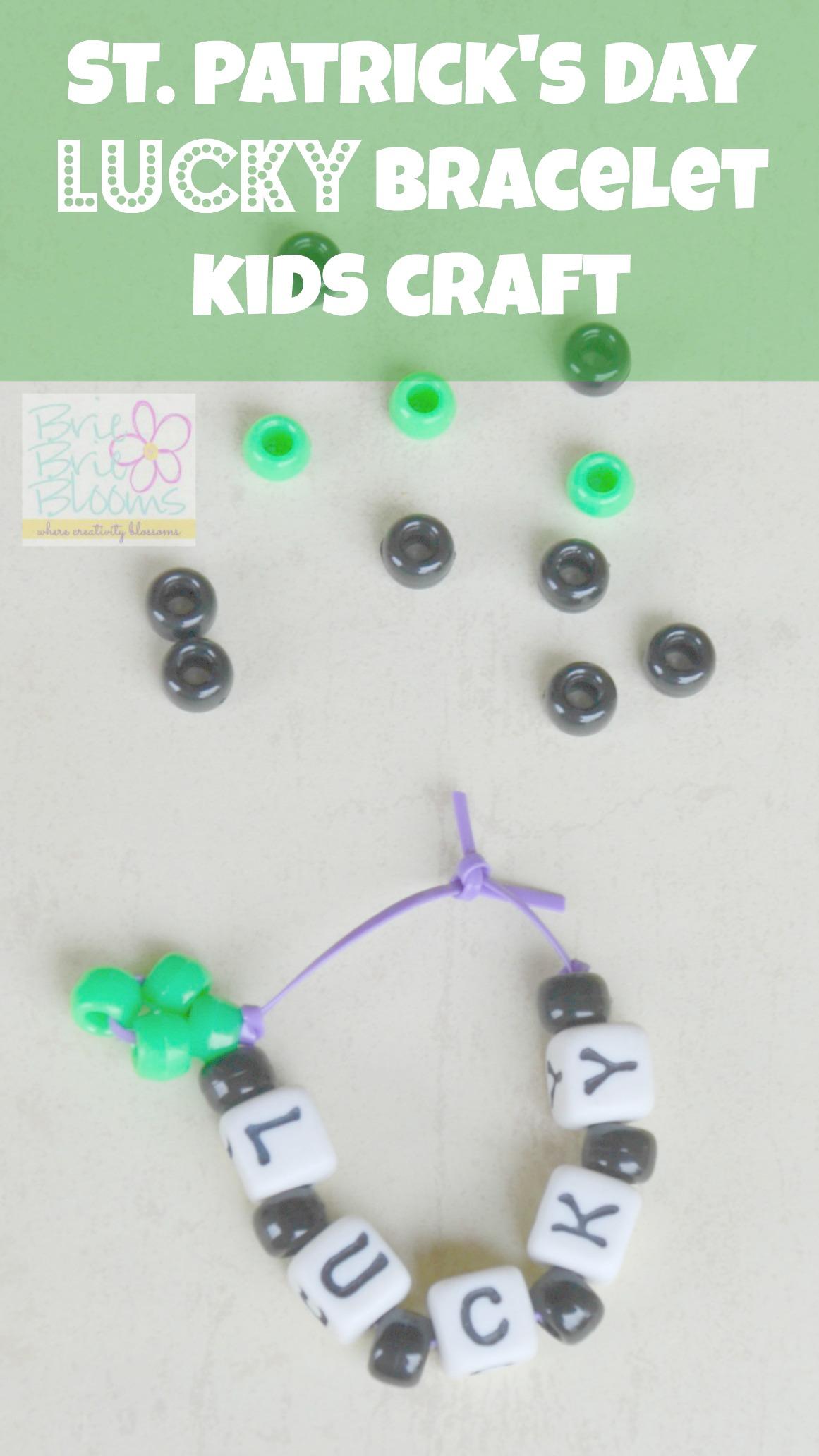 St Patricks Day Bracelet Kids Craft