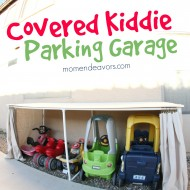 Covered Kiddie Car Parking Garage – Outdoor Toy Organization