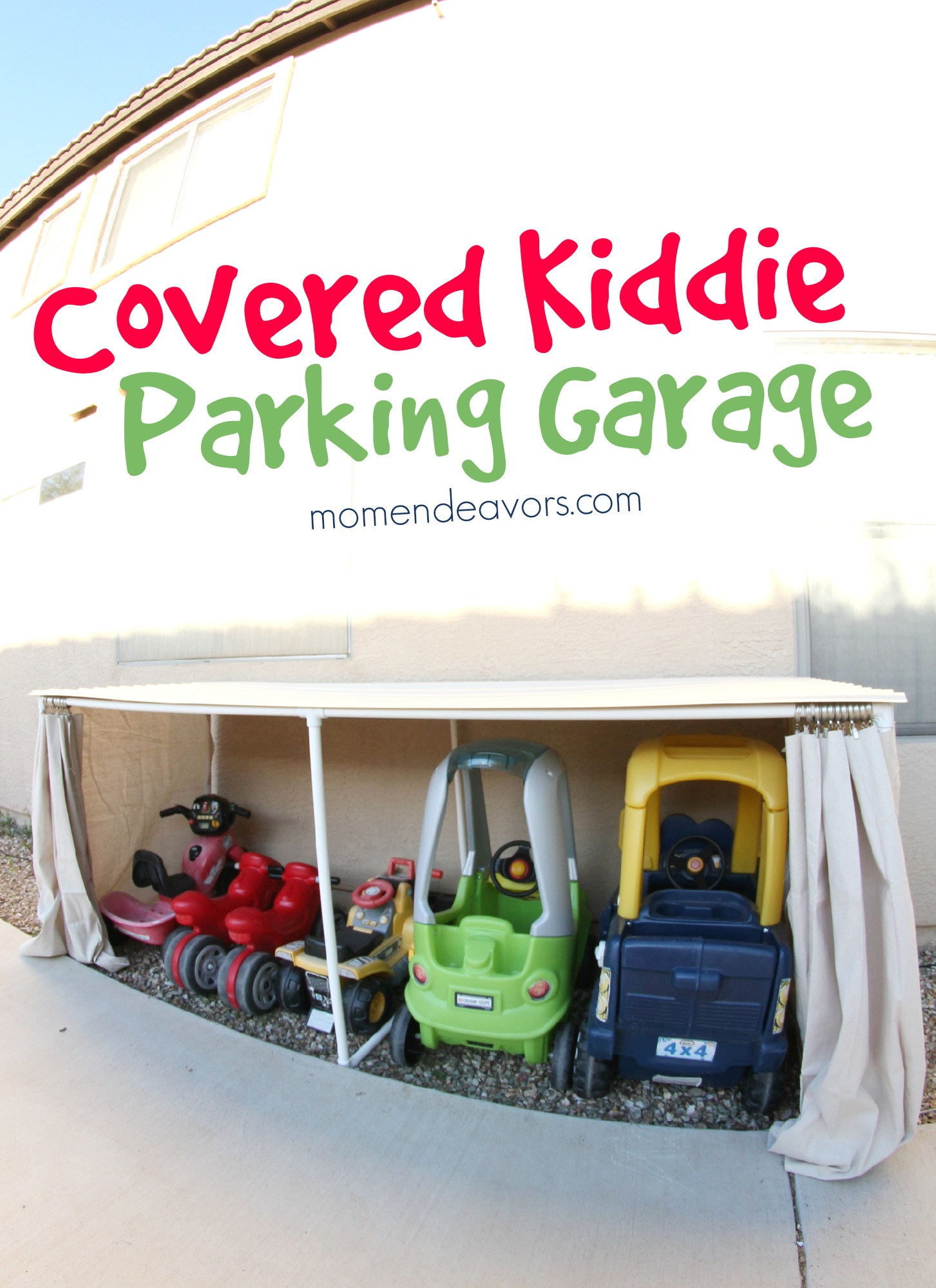 Covered Kid Car Parking Garage