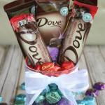 DIY Chocolate Bouquet Centerpiece
