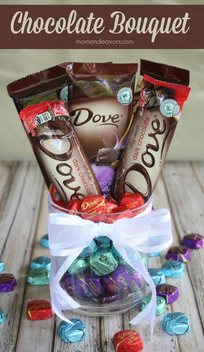 DIY Chocolate Bouquet Centerpiece