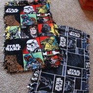 Easy DIY Star Wars Fleece Blankets
