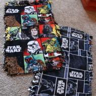 Easy DIY Star Wars Fleece Blankets