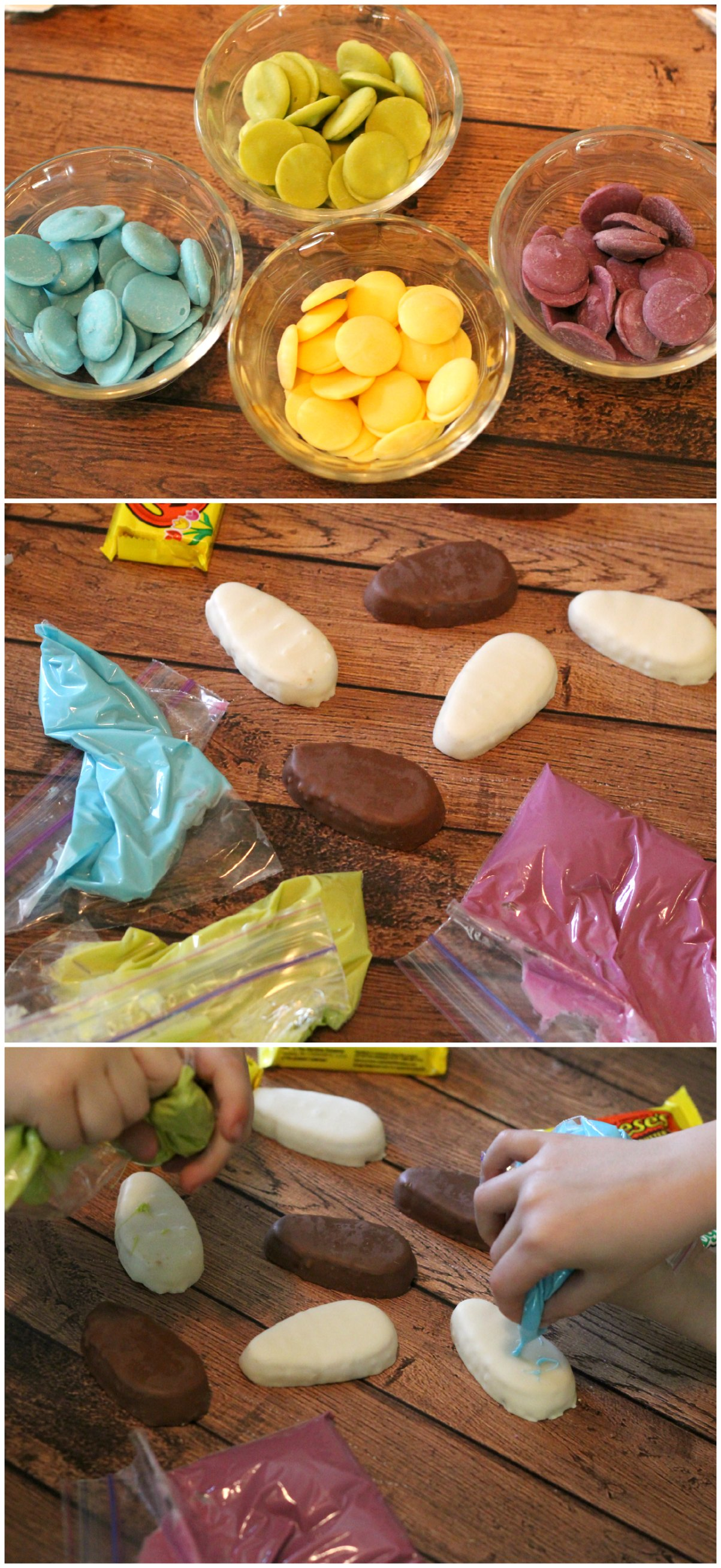 Decorating Chocolate Easter Eggs