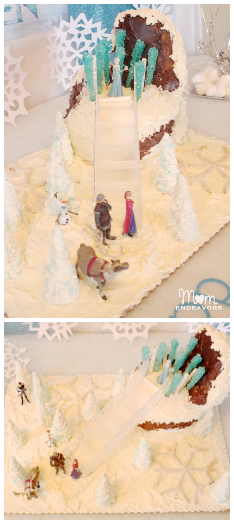 Disney Frozen Homemade Birthday Cake
