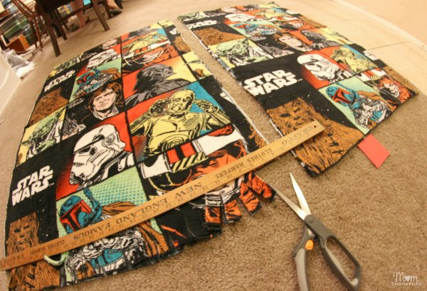Handmade Star Wars blanket