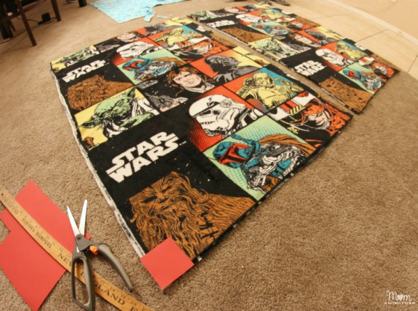 Making Star Wars Blankets