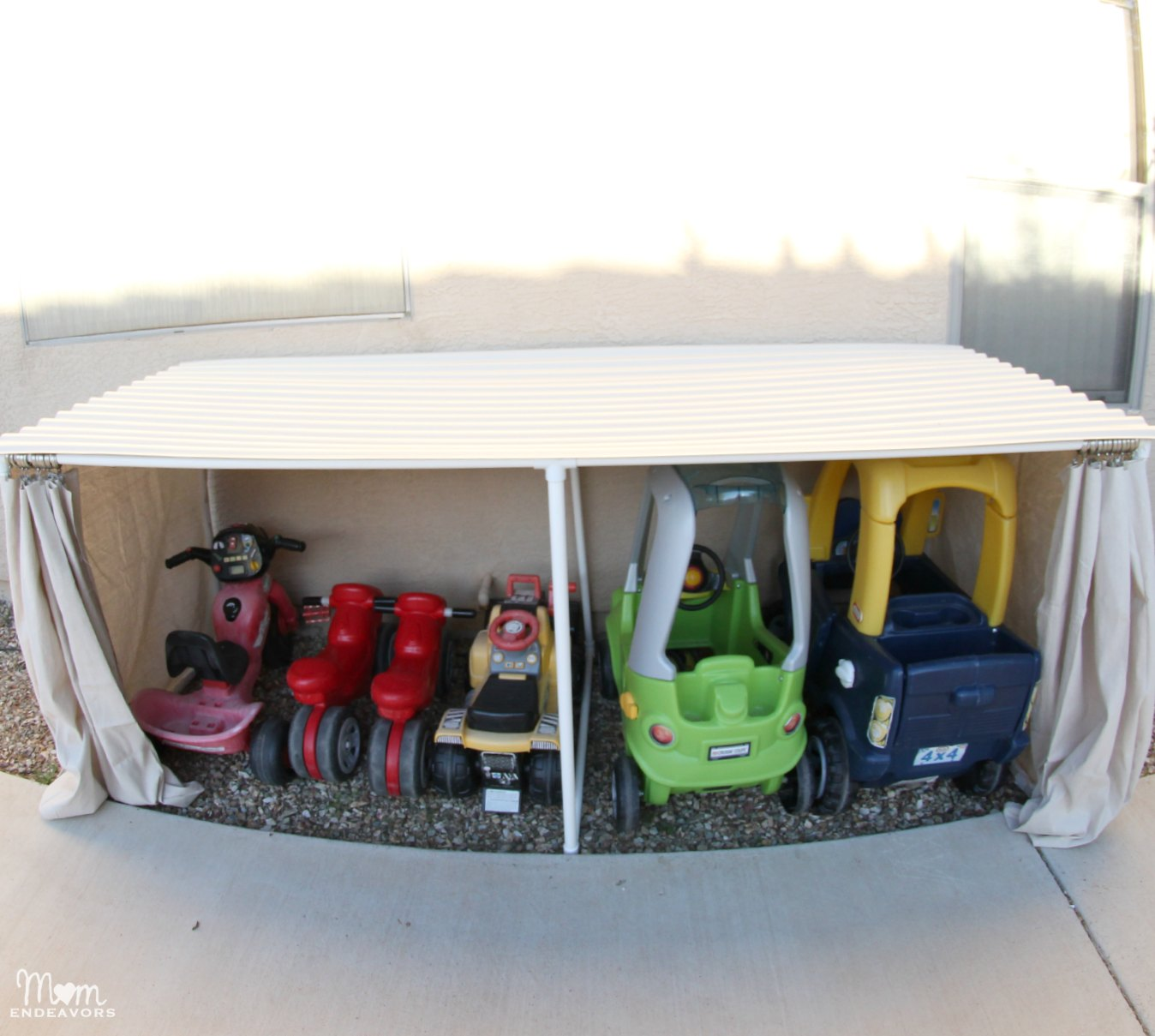 Outdoor Toy Car Organization
