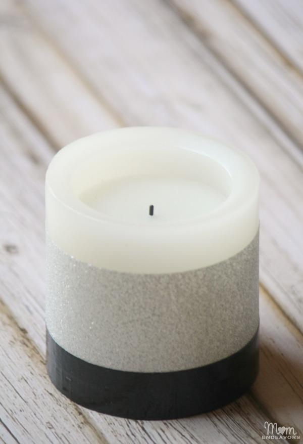 Silver & Black DIY Candle