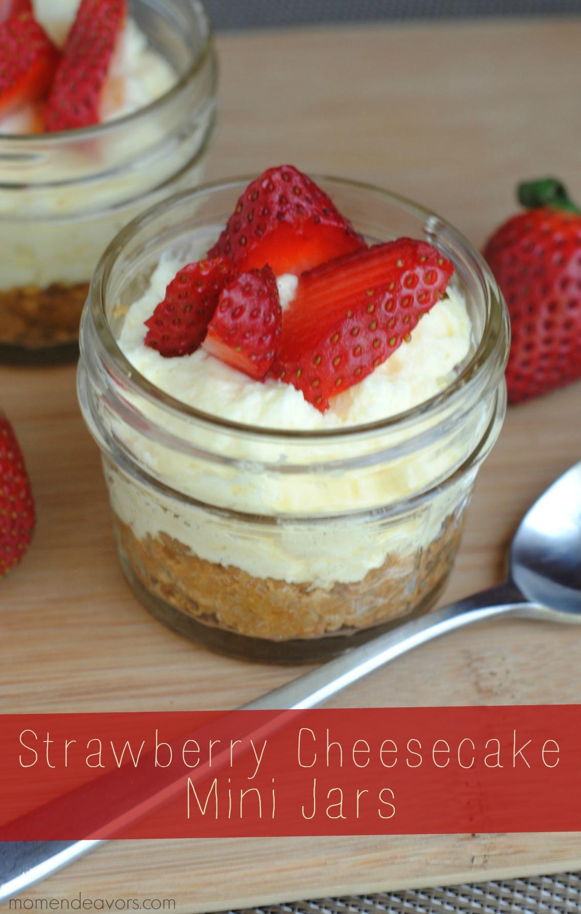 Strawberry Cheesecake Mini Jars