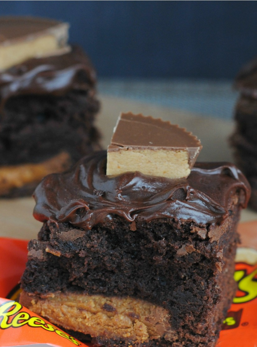 Chocolate Peanut Butter Candy Brownies