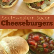 Southwestern Bacon Cheeseburgers with Guacamole #15MinuteSuppers