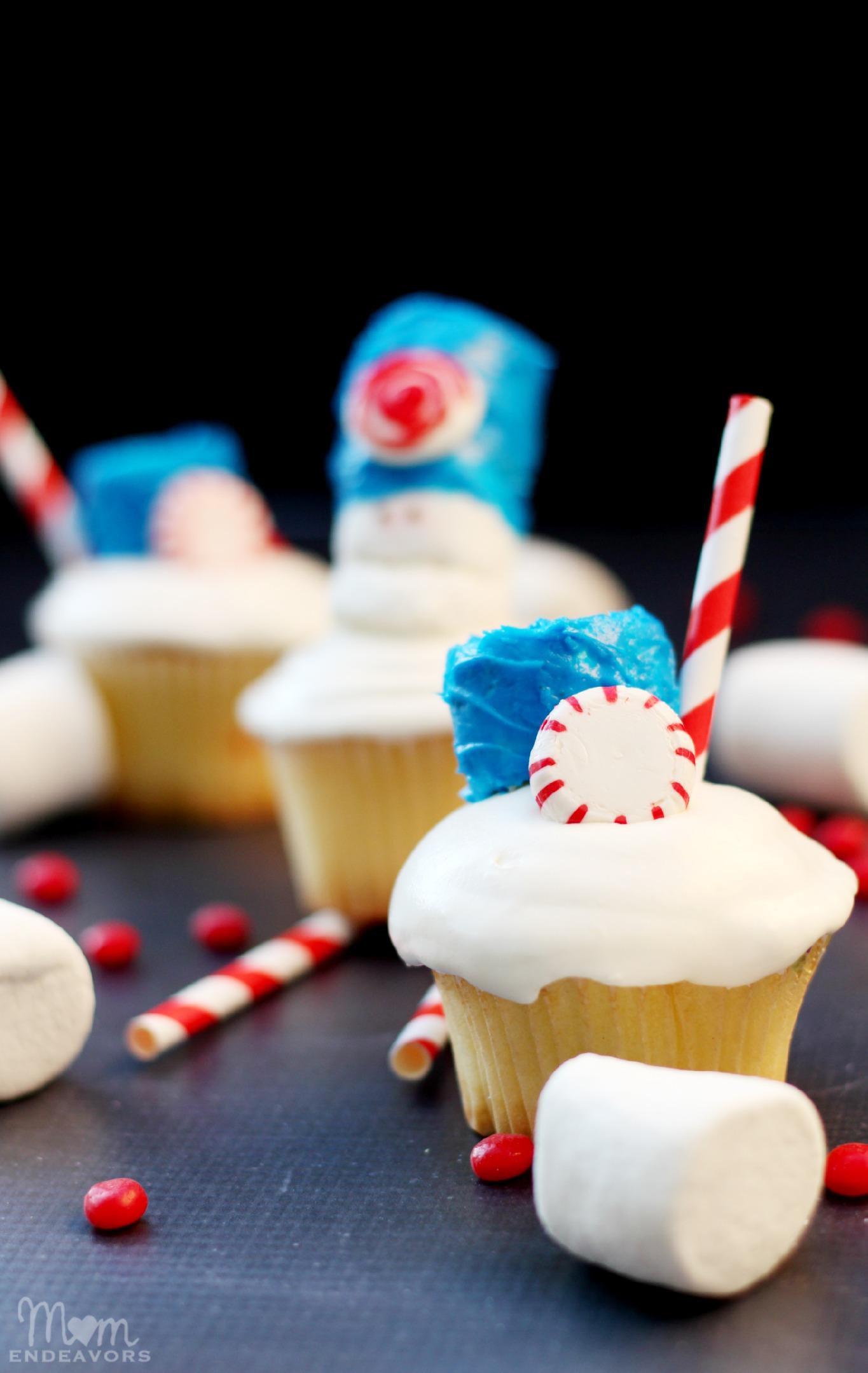 Marshmallow Creme Cupcakes