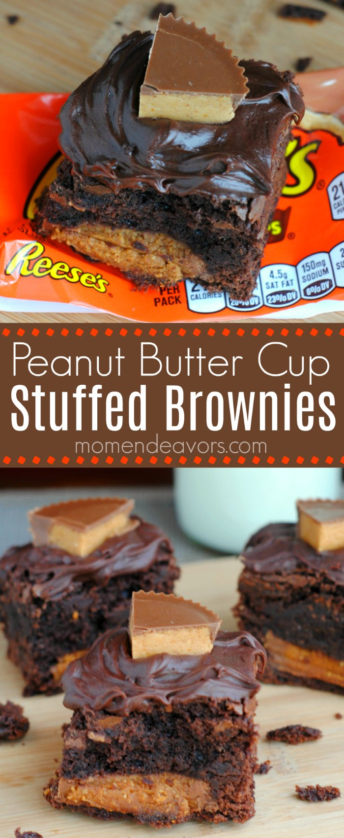 Reese's Peanut Butter Cup Stuffed Brownies Recipe