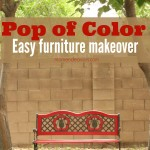 Pop of Color Easy Furniture Makeover