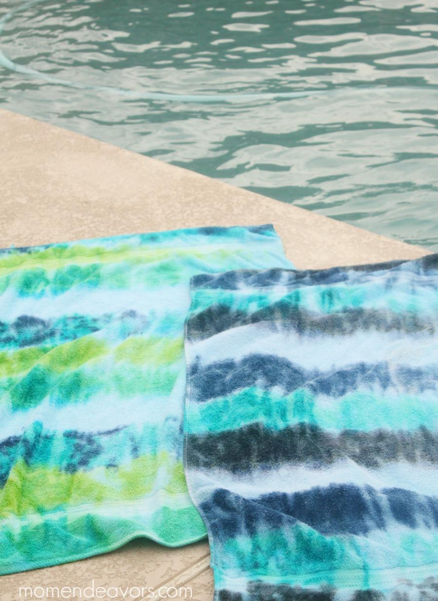 DIY Tie Dye Towels