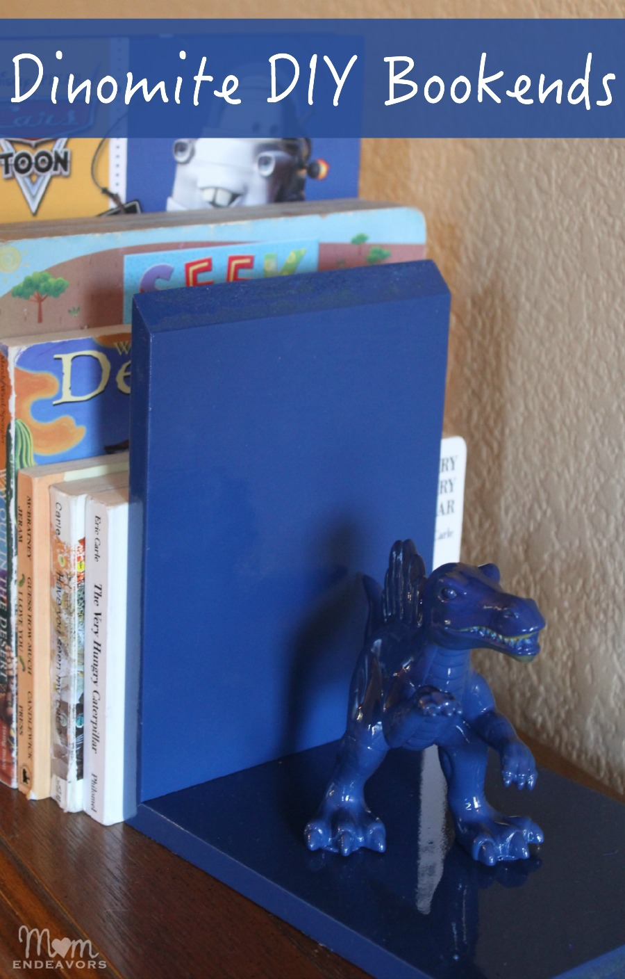 Dinosaur DIY Bookends