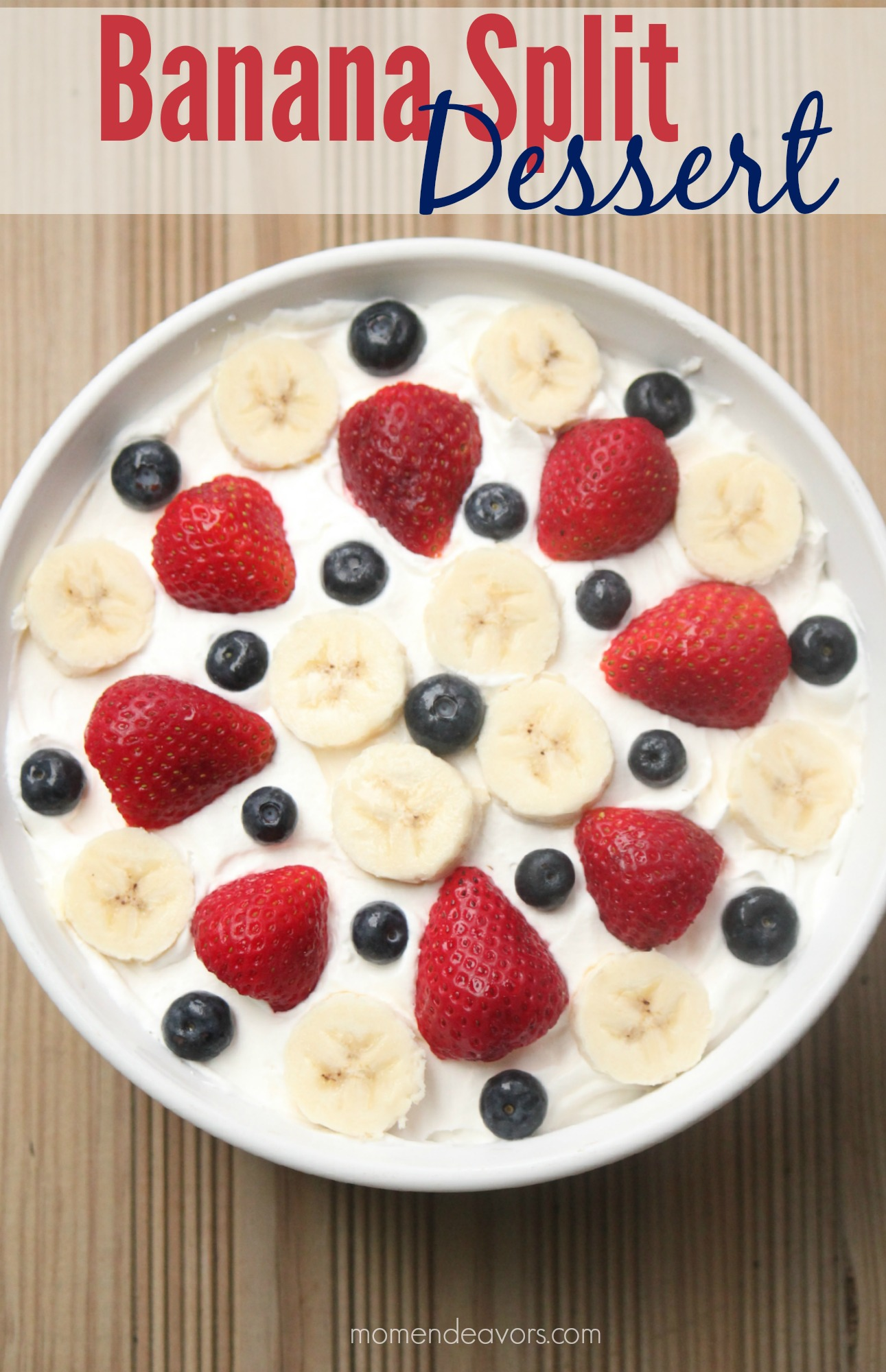 Patriotic Banana Split Dessert