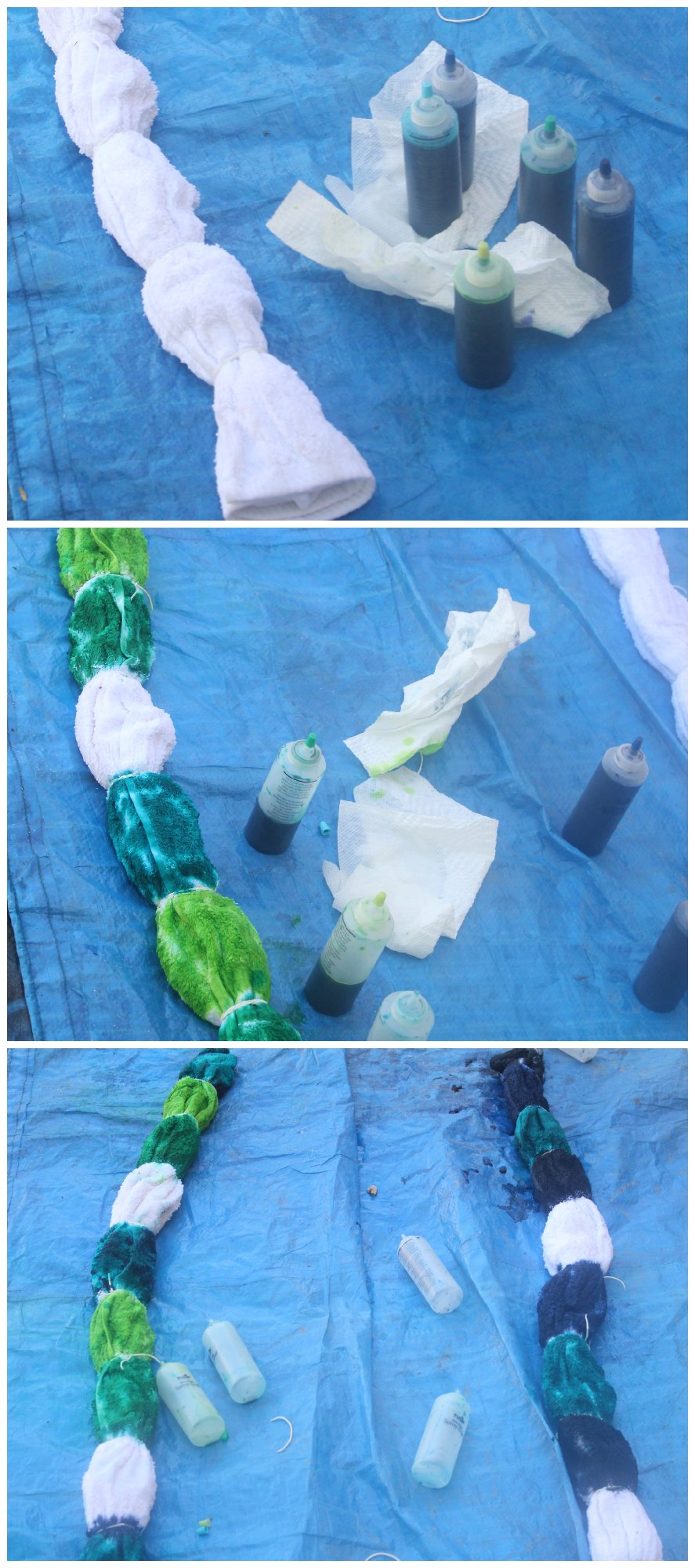 Tie Dyeing Beach Towels