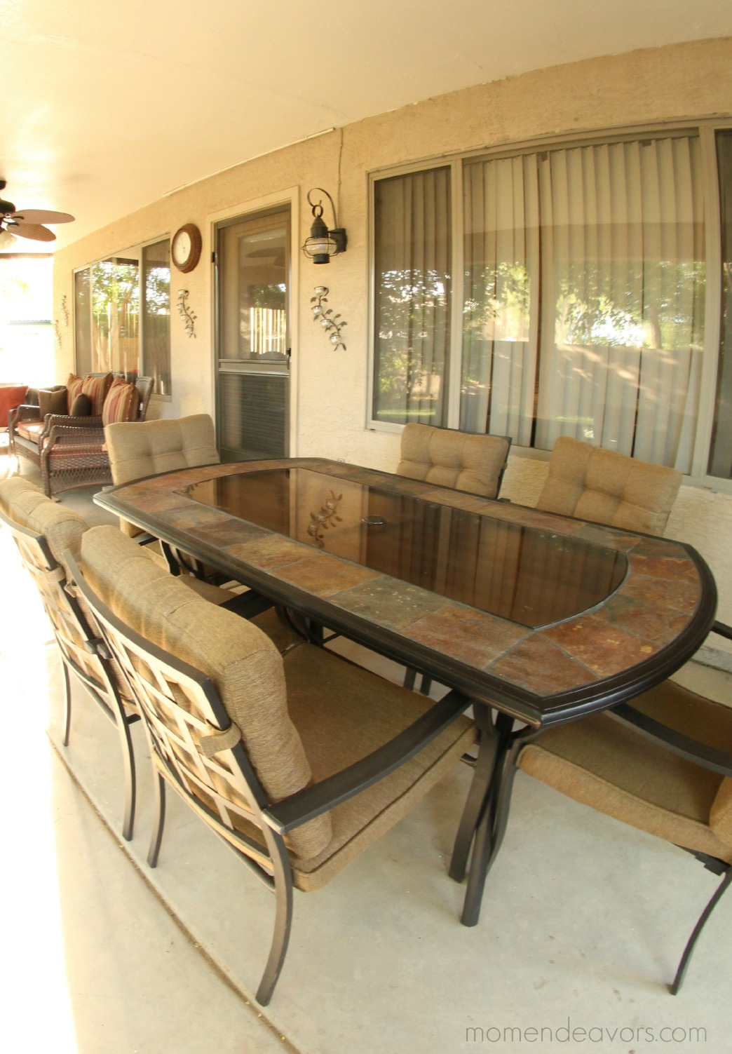 ... Allen + Roth Stone Patio Table