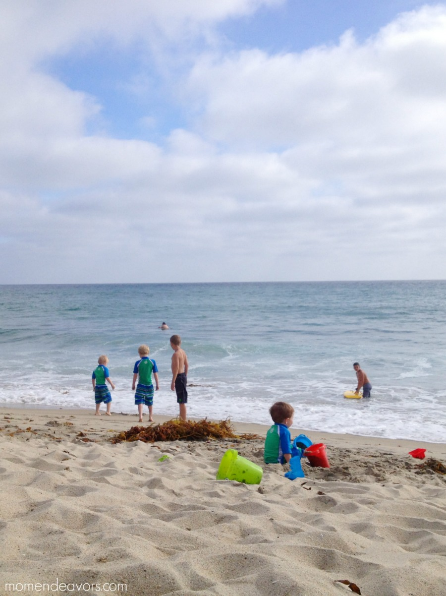 Beach with young kids