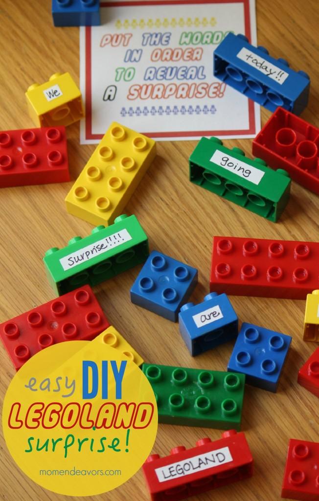 Easy Diy Legoland Trip Surprise Idea 100 Giveaway