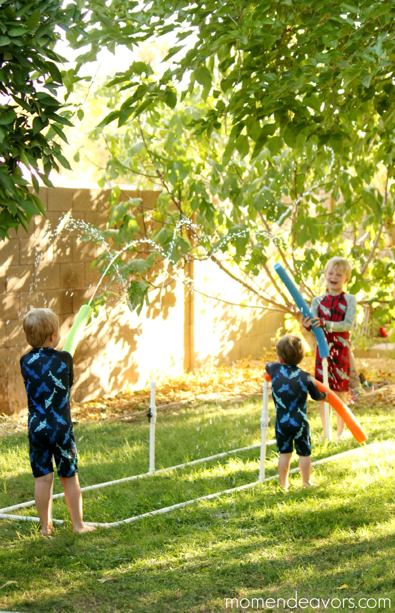 DIY Water Blaster Kid Sprinkler