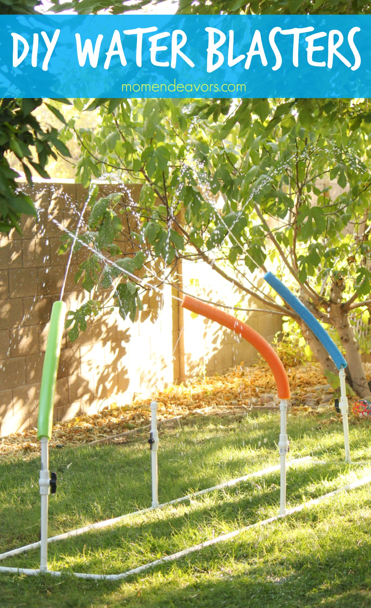 DIY Water Blasters Kiddie Sprinkler
