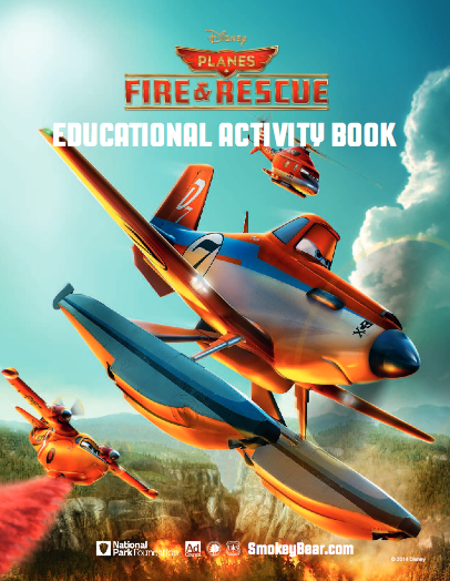 Disney Planes Fire & Rescue Fire Safety Printable Educational Activity Book