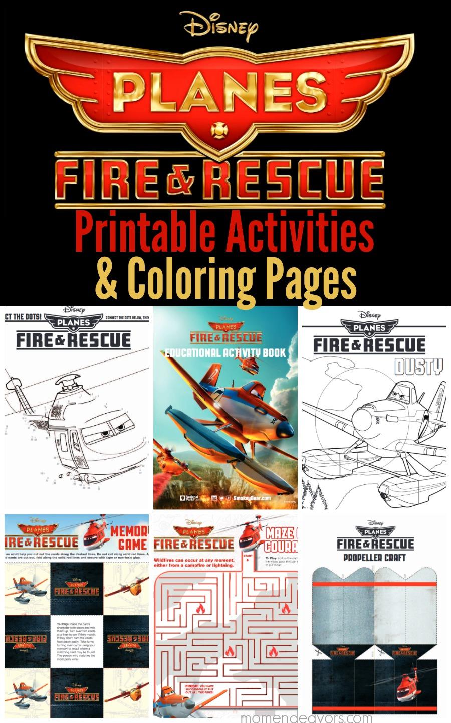 Disney Planes Fire & Rescue Printable Activities ...