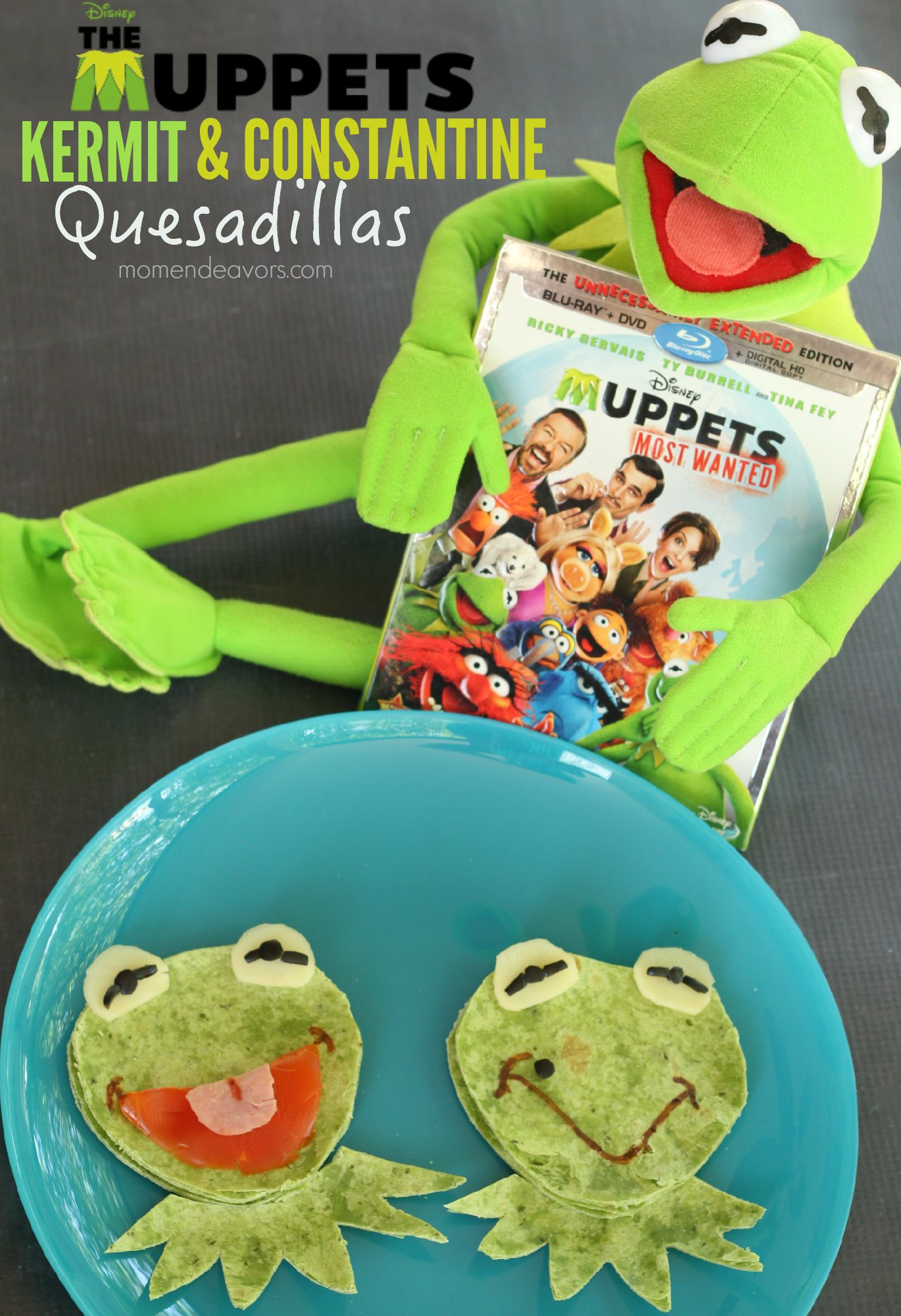 Muppets Most Wanted Kermit & Constantine Fun Food Idea
