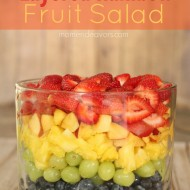 Layered Rainbow Fruit Salad
