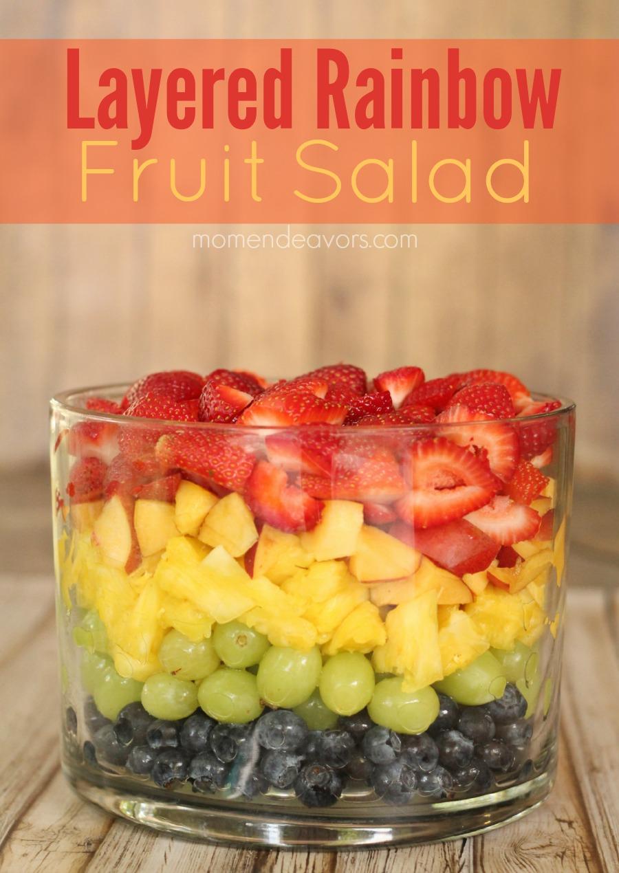 Rainbow Fruit Salad Trifle