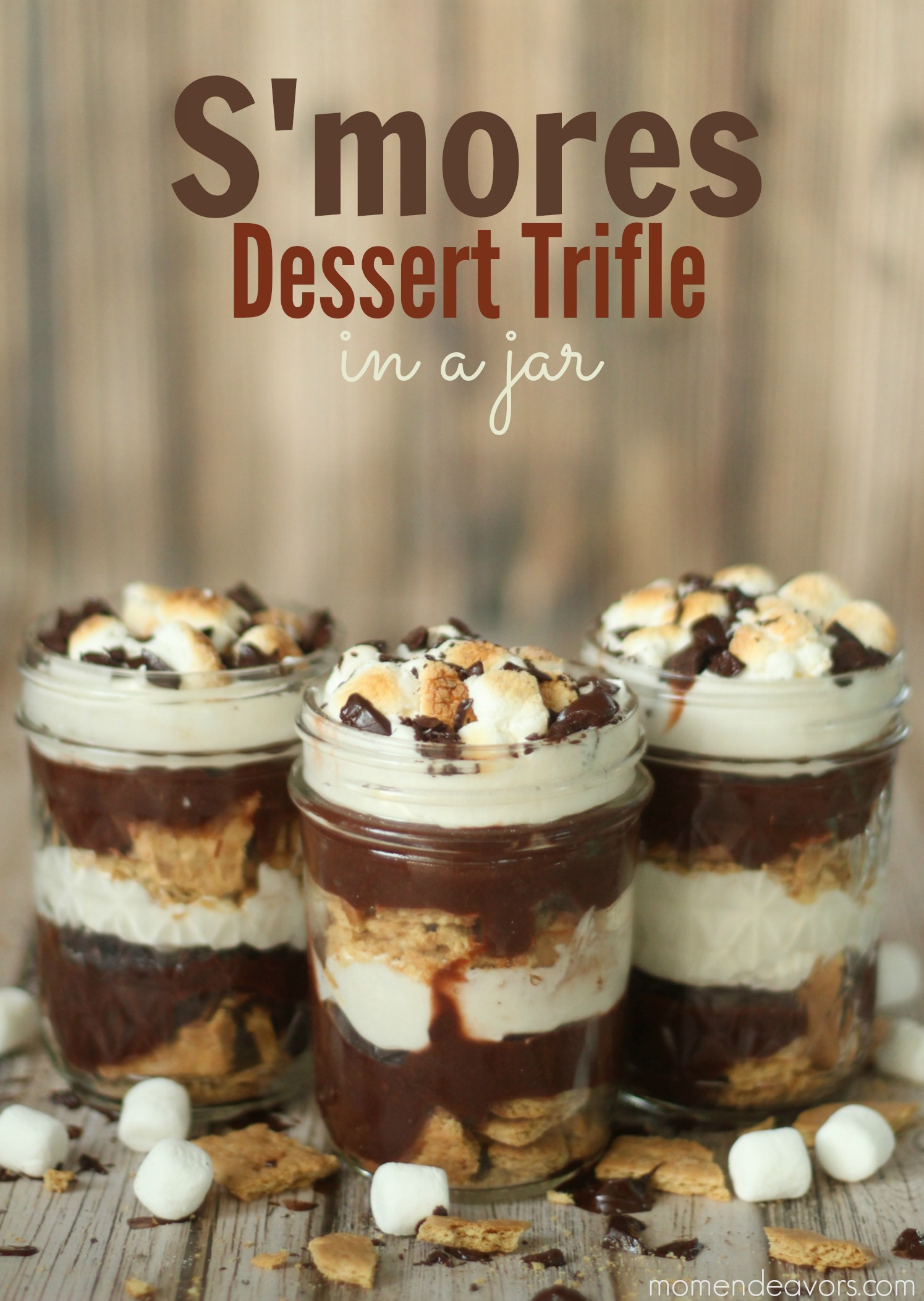S Mores Dessert Trifle In A Jar Mom Endeavors